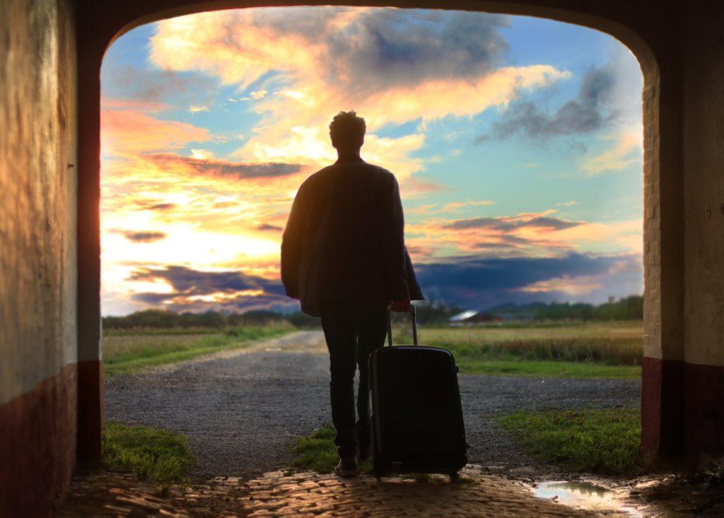 旅行へ出発