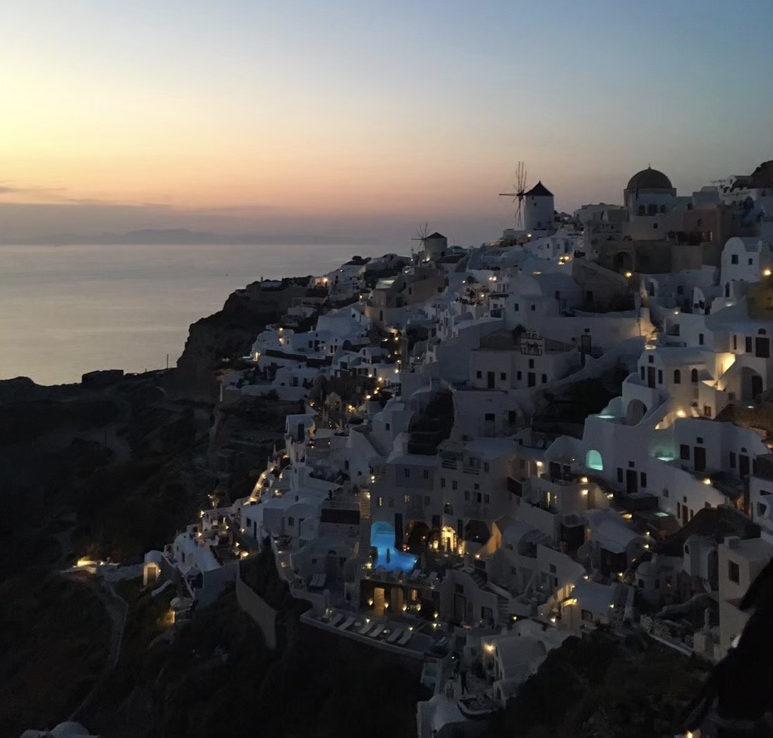 新婚旅行にギリシャ