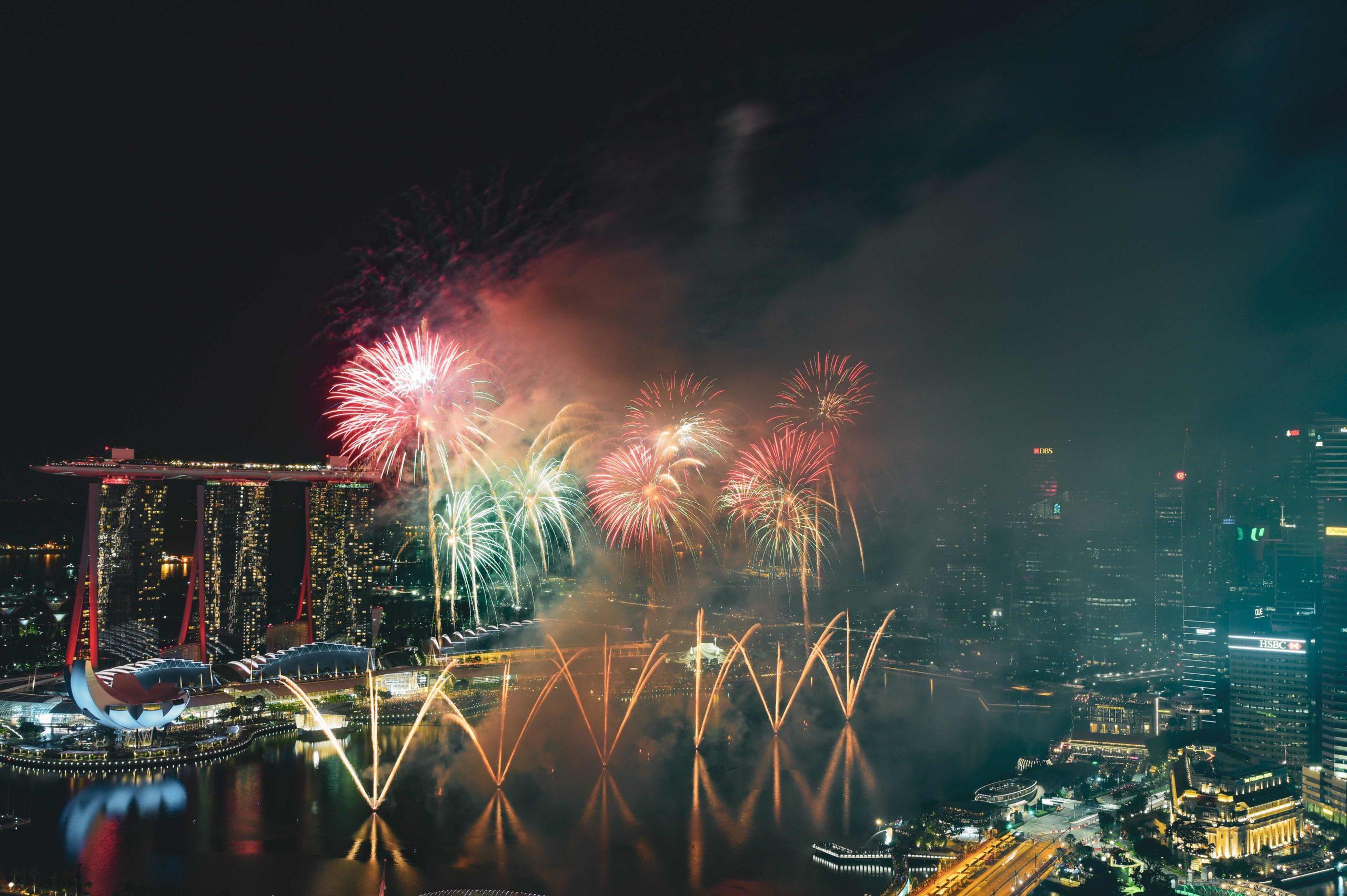 シンガポールの花火